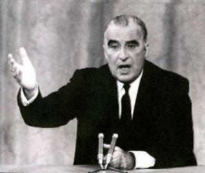Georges Pompidou lors d'une allocuion télévisée, en mai 1968